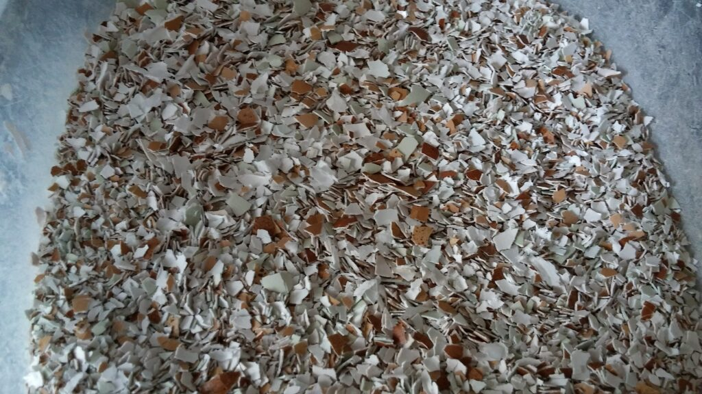crushed egg shells for chickens