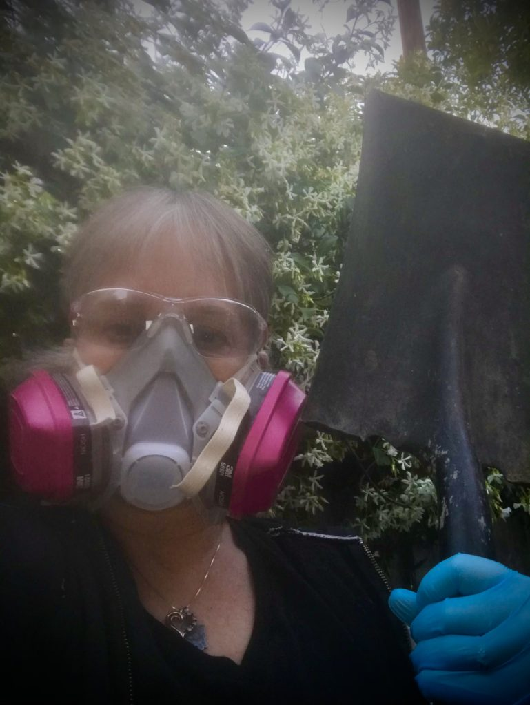always wear a mask that seals to your face when cleaning the chicken coop out