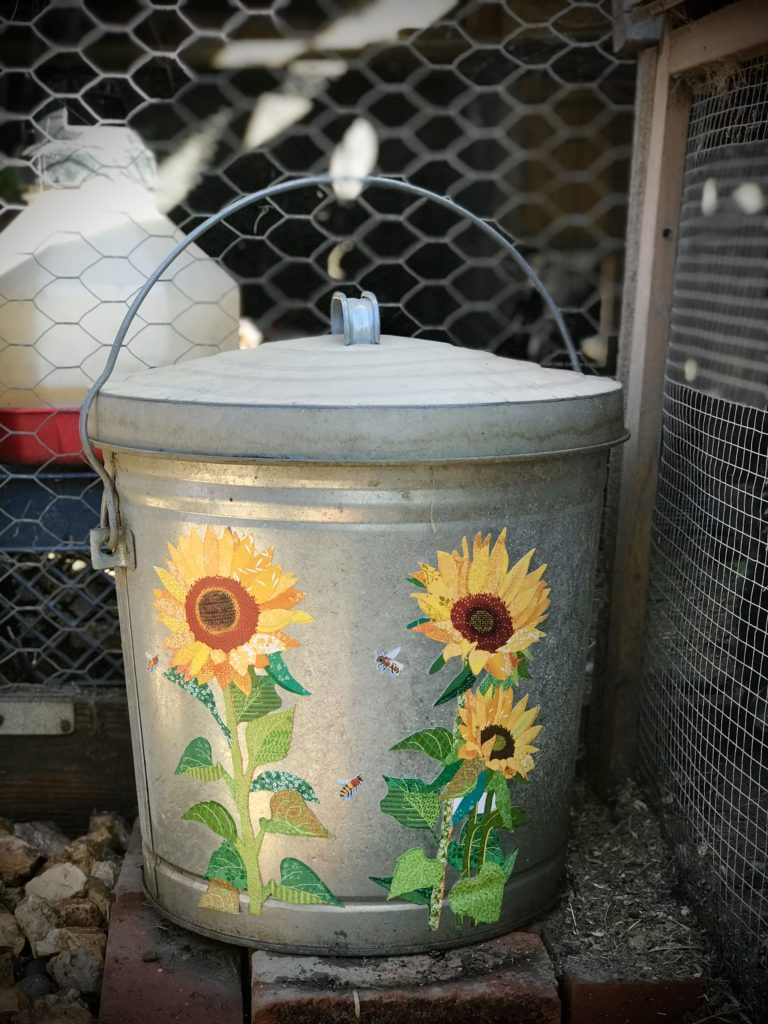METAL CAN FOR CHICKEN FEED