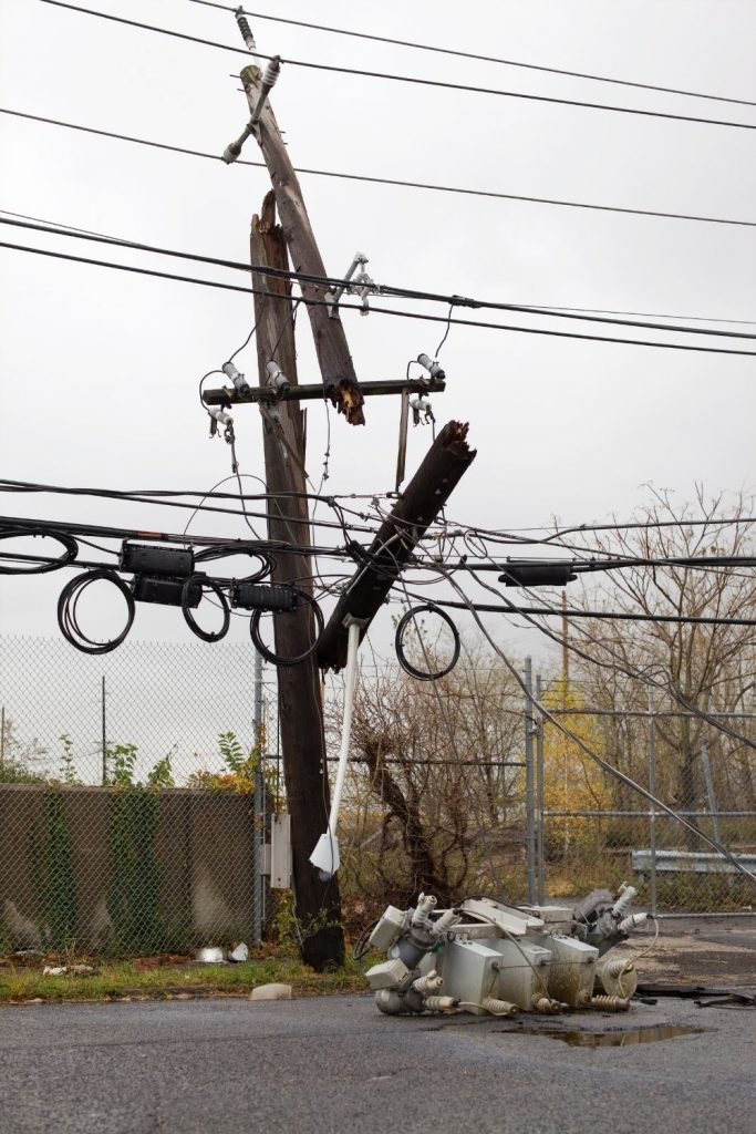 LARGE DISASTERS CAN CAUSE DOWNED POWER LINES.  EXPECT TO BE WITHOUT ELECTRICITY FOR SOME TIME.