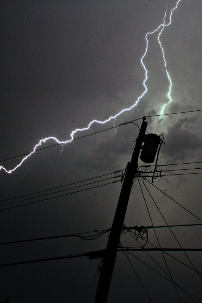 SEVERE STORMS CAN ALSO CAUSE BLACKOUTS TO OCCUR.