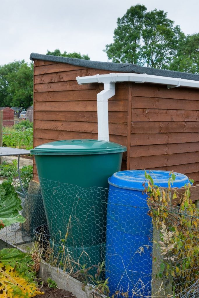 HAVE EXTRA WATER FOR YOUR CHICKENS STORED IN WATERTIGHT CONTAINERS.